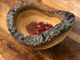 Wooden bowl - Hand made serving & display bowl carved from reclaimed cherry wood
