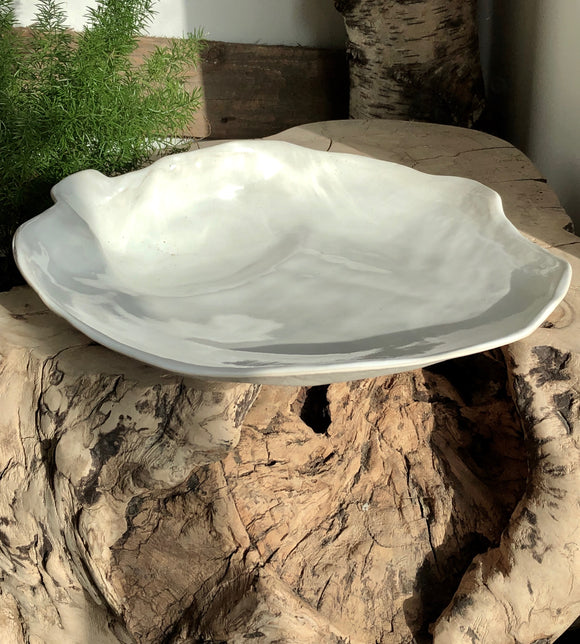 Sculptured ceramic bowl - hand made ceramic contemporary bowl for home display.