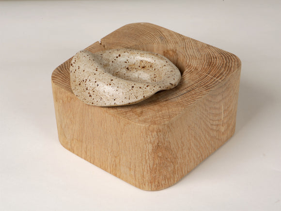 Oak wooden bowl