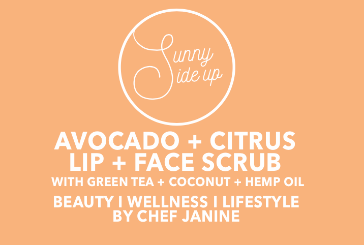 FACE + LIP SCRUB | avocado + citrus