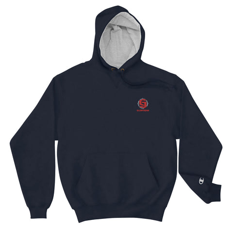 Embroidered Logo Champion Hoodie