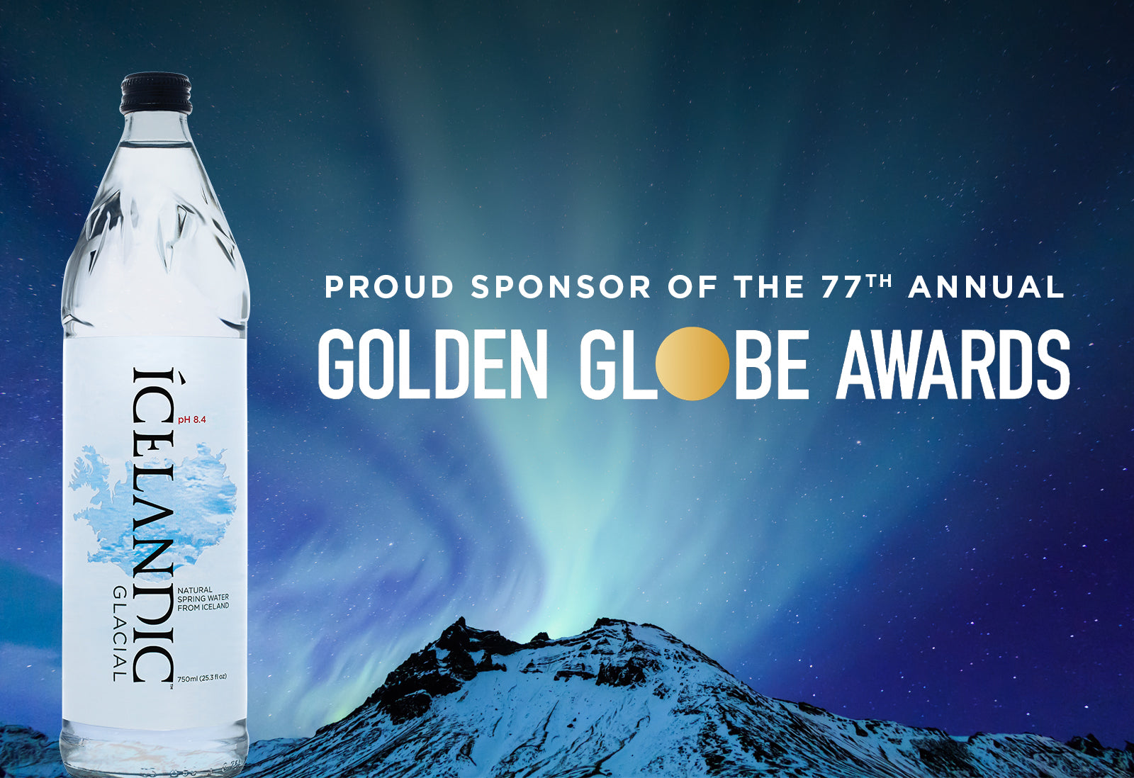 Icelandic Glacial Unveiled as the Official Water Sponsor of the Golden Globes