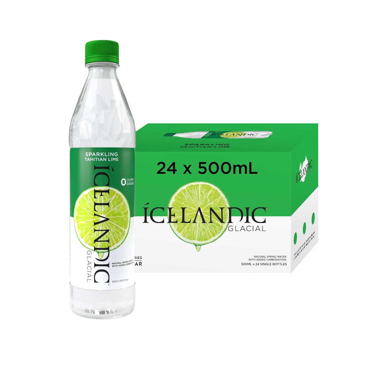 Sparkling Tahitian Lime 500ml Case - Icelandic Glacial
