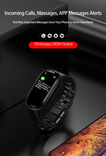 Load image into Gallery viewer, M1 Newest 2 In 1 AI Smart Watch With Bluetooth Earphone Heart Rate Monitor Smart Wristband Long Time Standby Sport Watch Men