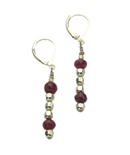 Load image into Gallery viewer, Ruby Slipper Earrings
