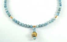 Load image into Gallery viewer, Aquamarine Glow Necklace