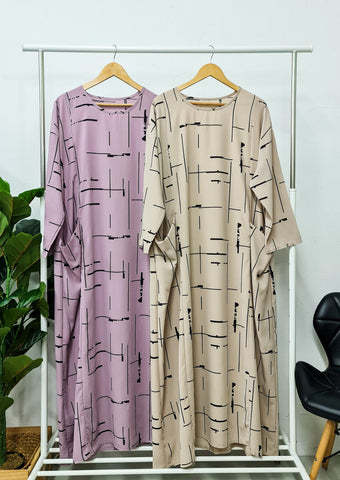 Dee Oversized Dress - Print 3