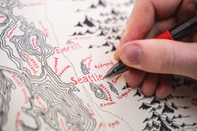 Load image into Gallery viewer, Hand drawn map of seattle
