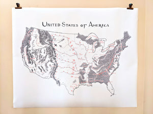 Oversized Canvas Maps