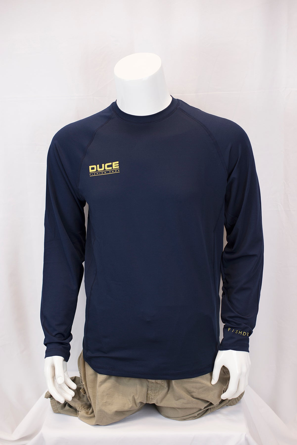 Team DUCE Navy Long Sleeve Cool and Dry Performance Shirt
