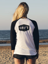 Load image into Gallery viewer, Black/White Drift Baseball Tee