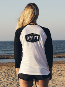 Black/White Drift Baseball Tee
