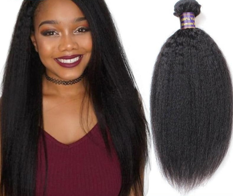 Yaki Straight Hair Bundles Indian - Human Hair