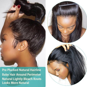 Invisible Lace Front Wig - Human Hair