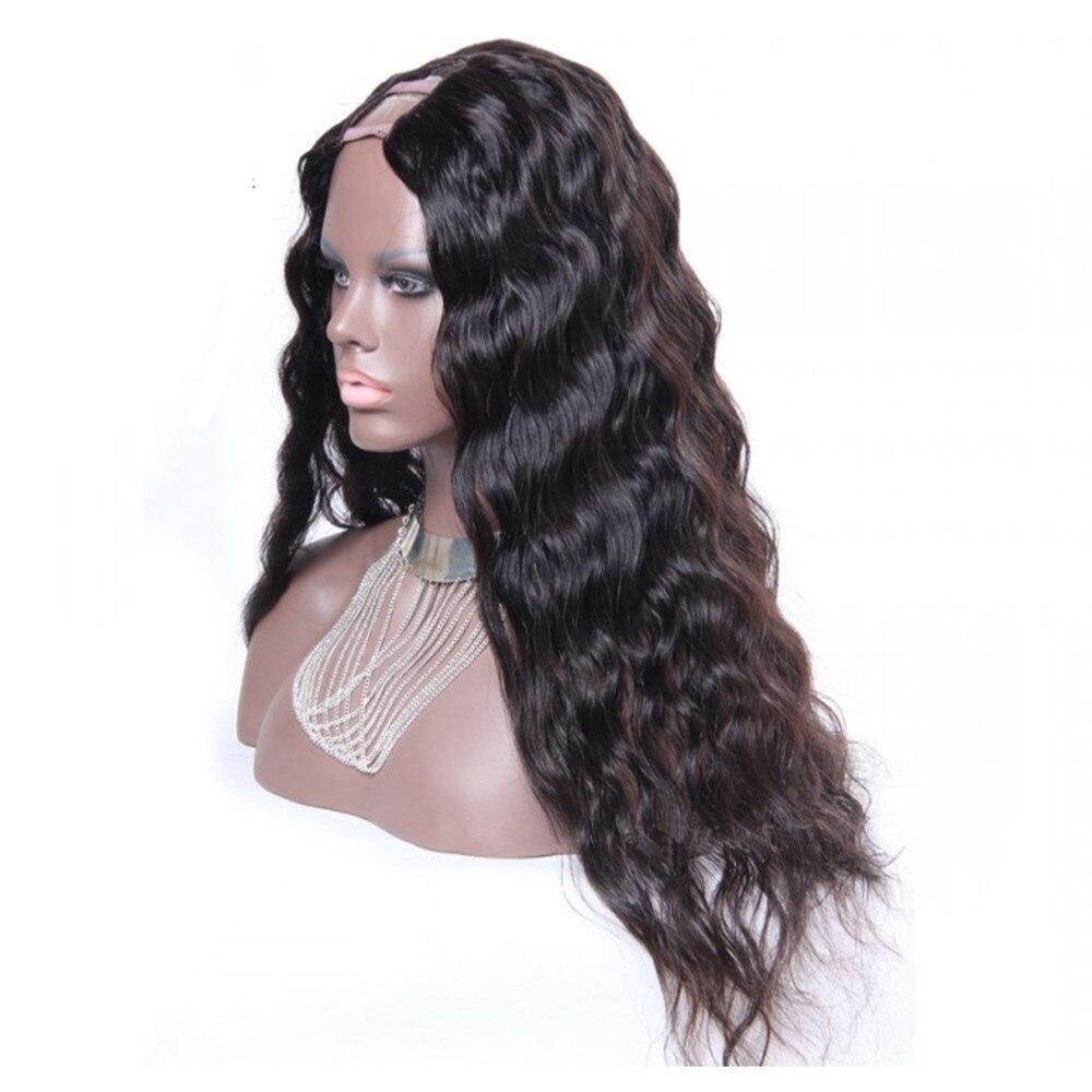 Deep Wave U Part Human Hair Wigs - Middle Part Brazilian Silky Natural