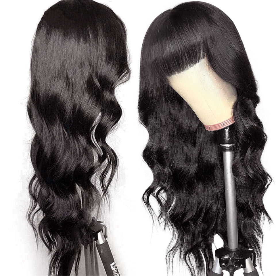 Body Wave Wig With Bangs