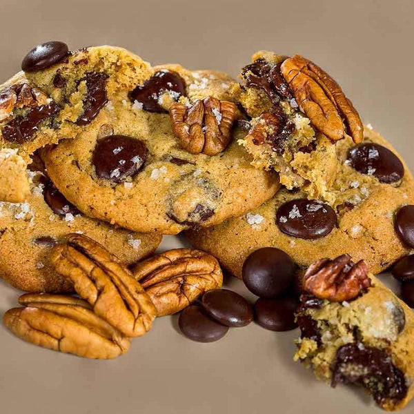 Caixa Cookies Congelados Sabor Pecan Chocolate Chunk - Cookie Project Brasil