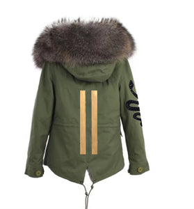 Snakes and Stripes Parka