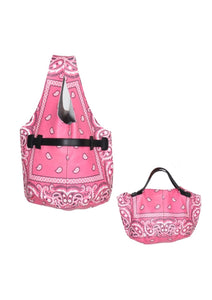 Leather Bandana Bucket Bag