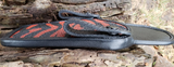 1911 Black and Red Tiger Stripe Pattern Stingray Holster Without Spine
