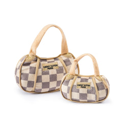 Checker Chewy Vuiton Purse | Plush Toy - Sunday Paws