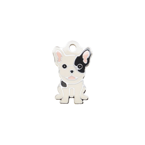 French Bulldog B&W | Dog Tag - Sunday Paws