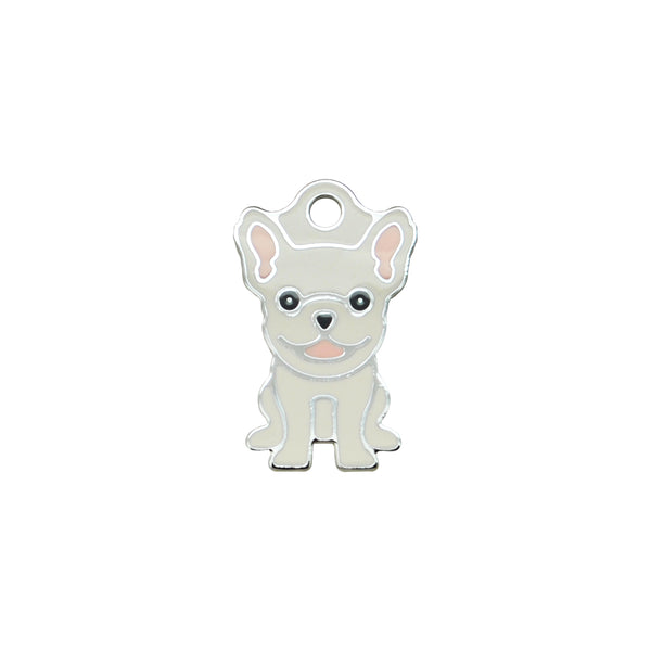 French Bulldog White | Dog Tag - Sunday Paws