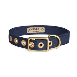 Navy + Brass All Weather Dog Collar - Sunday Paws