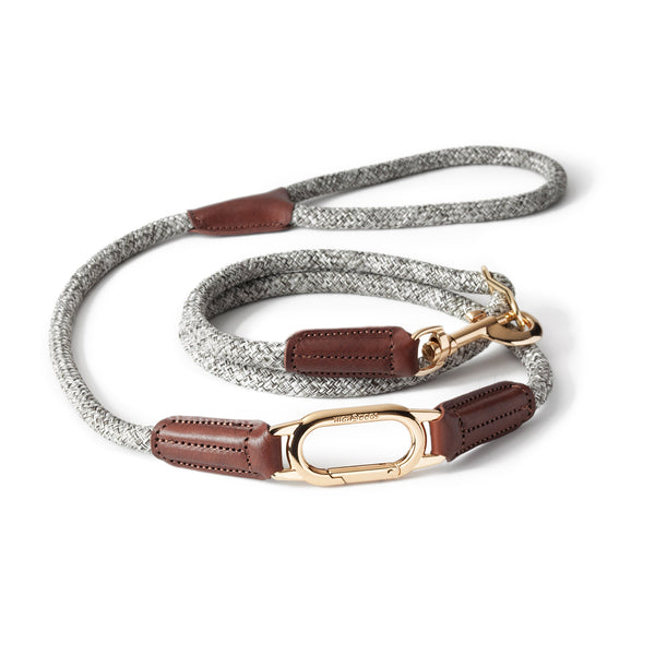CLIC Three Way Leash | Bi-Tone Tan on Beige - Sunday Paws