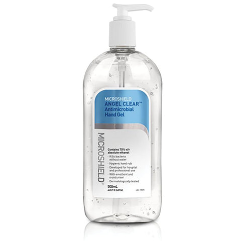 Microshield Angel Hand Sanitiser Gel - Clear - 500ml
