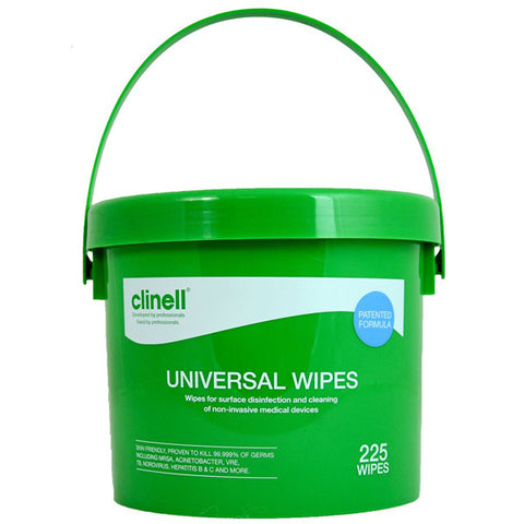 Clinell Universal Cleaning & Disinfectant Wipes Tub of 225