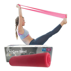 Allcare Resistance Band 5.5m Red - Medium Resistance