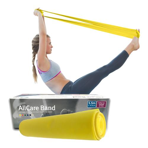Allcare Resistance Band 5.5m Yellow - Light Resistance