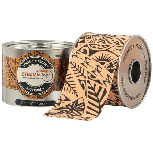 Dynamic Tape Beige with Black Tattoo Design 5cm x 5m - Drum of 6