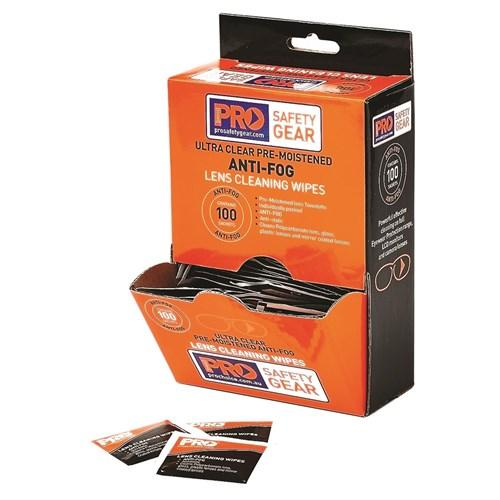 ANTI-FOG LENS WIPES 100 PACK-ProChoice-Task Supplies