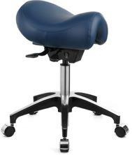 ASCOT STANDARD SADDLE SEAT STOOL - NAVY BLUE-WINBEX-Task Supplies