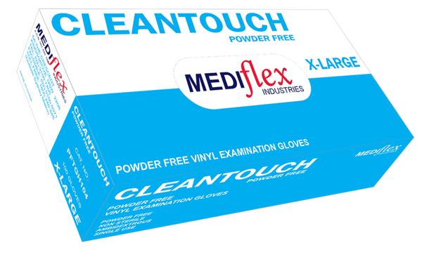 CLEAN TOUCH VINYL GLOVE - POWDER FREE-MEDIFLEX-Task Supplies