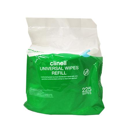 Clinell Universal Wipes Refill Pack of 225-CLINELL-Task Supplies