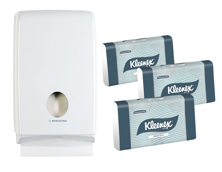 COMPACT HAND TOWEL STARTER KIT-KLEENEX-Task Supplies