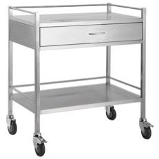 DOUBLE SHELF TROLLEY - 1 DRAWER-TASK-Task Supplies