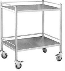 DOUBLE SHELF TROLLEY-TASK-Task Supplies