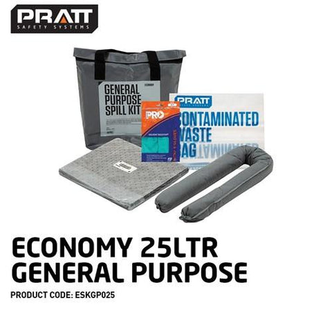 ECONOMY 25LTR GENERAL PURPOSE SPILL KIT-PRATT-Task Supplies
