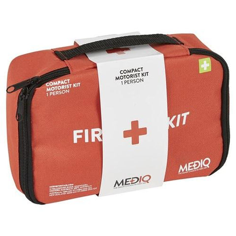 ESSENTIAL COMPACT MOTORIST FIRST AID KIT IN SOFT PACK-MEDIQ-Task Supplies