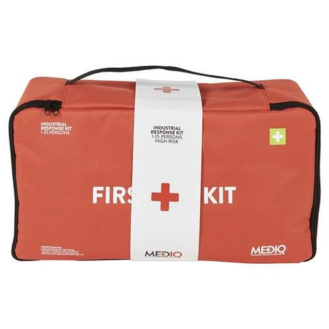 ESSENTIAL INDUSTRIAL RESPONSE FIRST AID KIT IN SOFT PACK-MEDIQ-Task Supplies
