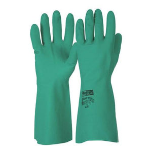 GREEN NITRILE GLOVES - PACK OF 12 PAIRS-ProChoice-Task Supplies
