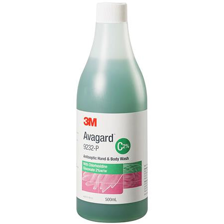 HAND AND BODY WASH WITH CHLORHEXIDINE GLUCONATE 2% -500ML-AVAGUARD-Task Supplies