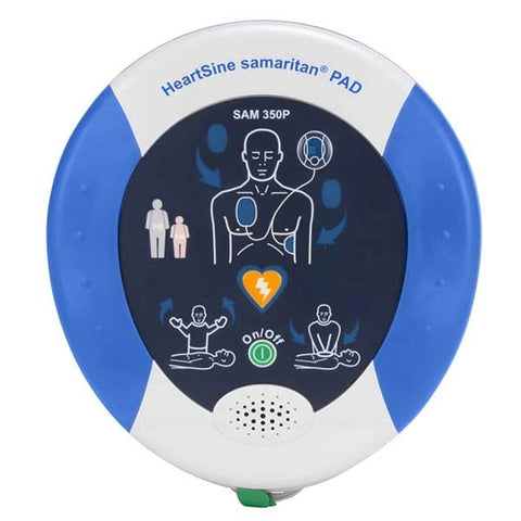 HEARTSINE SAMARITAN 350P SEMI AUTOMATIC DEFIBRILLATOR PACKAGE WITH WALL CABINET & PREP KIT-HEART SINE-Task Supplies