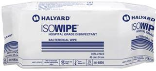 Iso Wipes Refill Pack of 75 wipes -Hospital Grade Disinfectant Bactericidal Wipe-HALYARD-Task Supplies