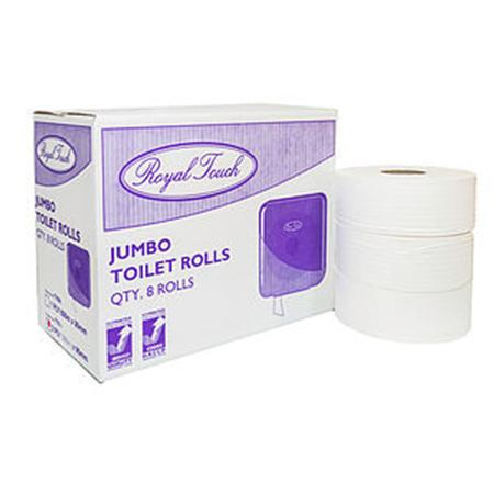 JUMBO TOILET ROLL - 2PLY 300MTR - 8-Royal Touch-Task Supplies