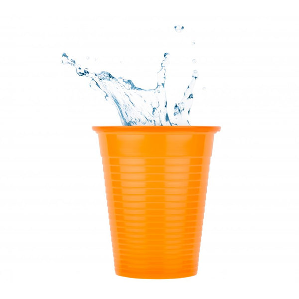 Plastic Dental Cups - Orange - 180ml - Carton (3000 Pieces)
